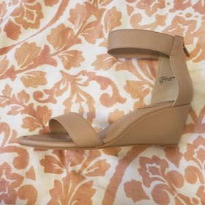 Wedge Sandal with Zip Ankle Strap